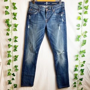 7 FOR ALL MANKIND Roxanne Distressed Denim Jeans